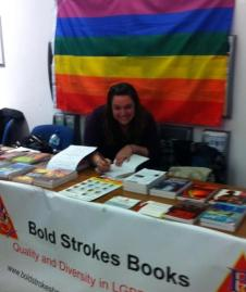 Andrea Bramhall signs books at States of Independence
